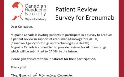 Patient Review Survey for Erenumab